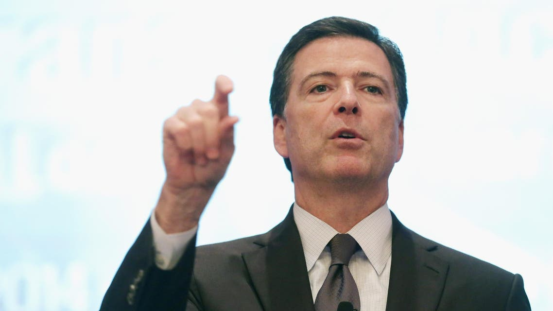 Federal Bureau of Investigation Director James Comey addresses the Intelligence and National Security Summit at the Omni Shoreham Hotel September 19, 2014 in Washington, DC. (AFP)