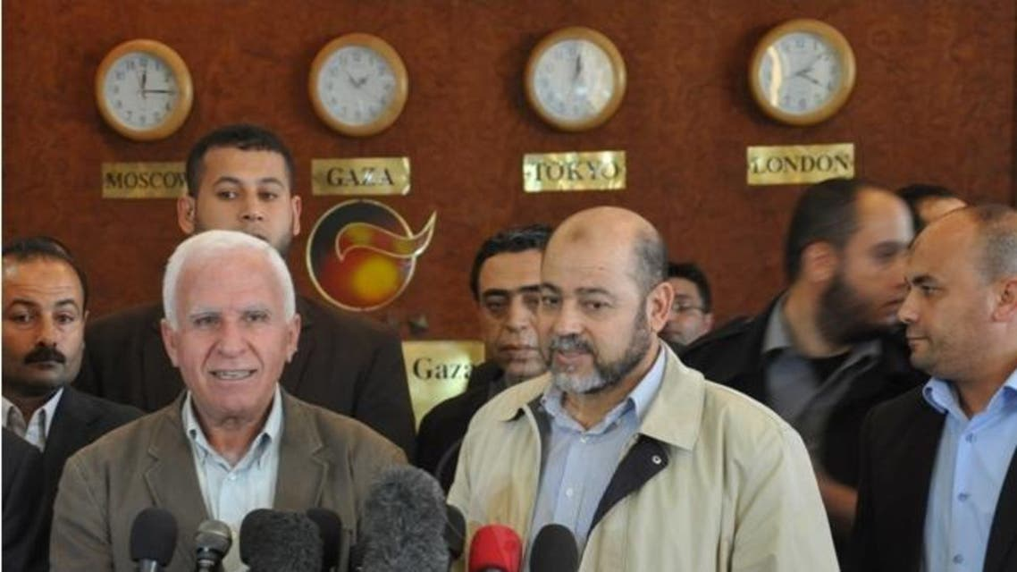 موسى ابو مرزوق و عزام الاحمد