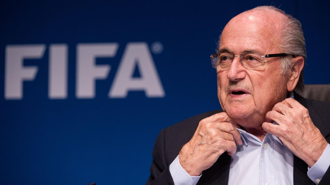 IFA President Sepp Blatter gives a press conference at the end of a meeting of the FIFA Executive Comitee on September 26, 2014. (AFP)