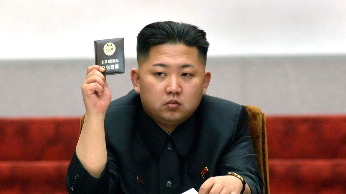 North Korean leader Kim Jong-Un holds up his ballot during the fifth session of the 12th Supreme People's Assembly of North Korea at the Mansudae Assembly Hall in Pyongyang in this April 13, 2012 file photo. (Reuters)