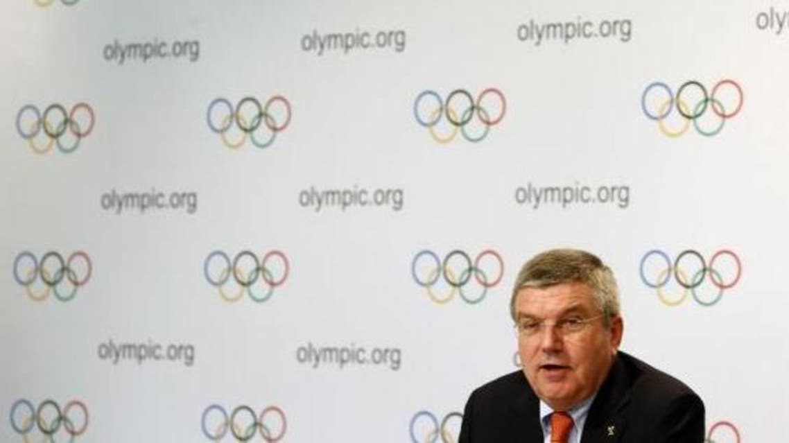 International Olympic Committee (IOC) President Thomas Bach speaks during a news conference Reuters
