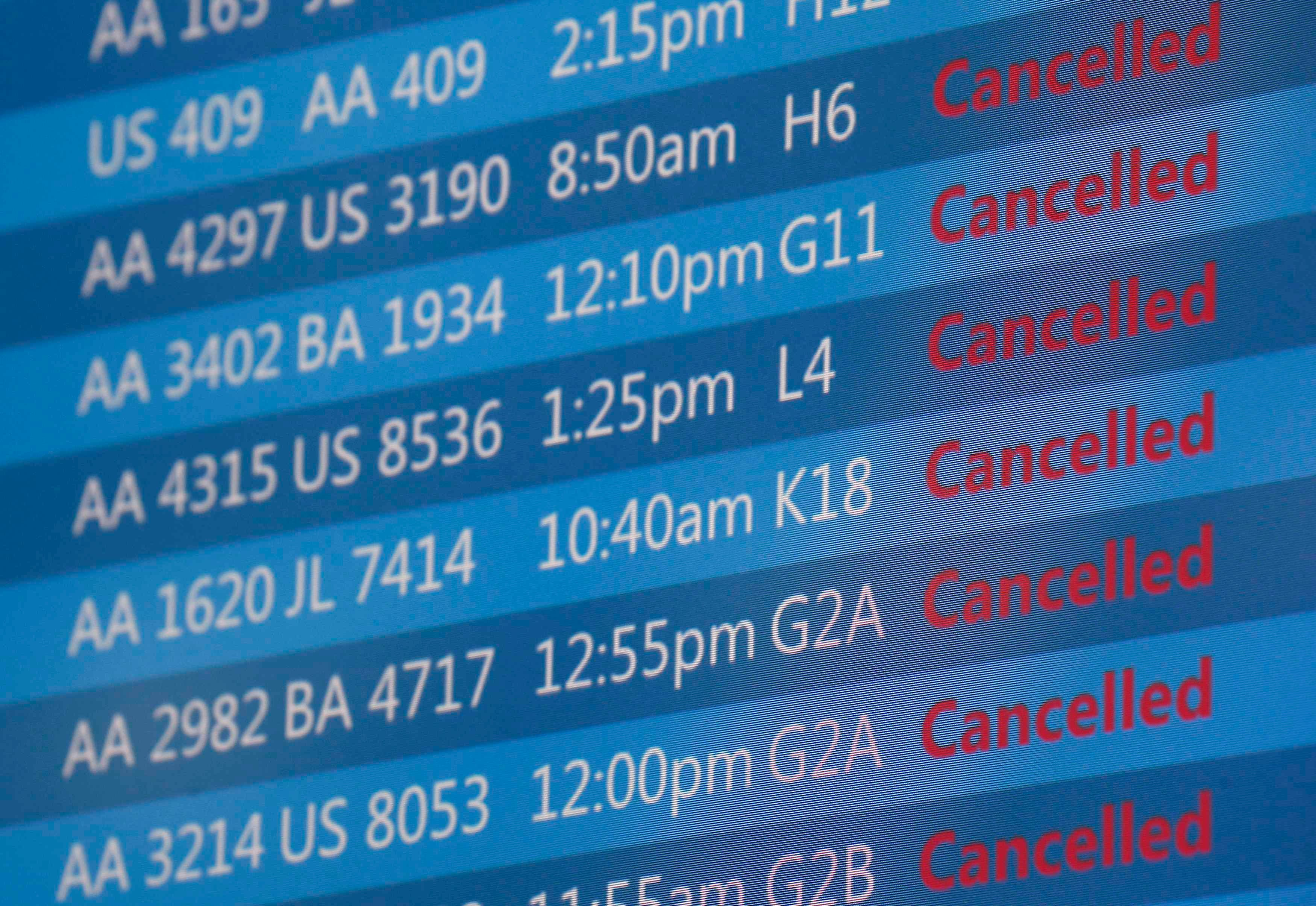 الغاء رحلات مطار شيكاغو