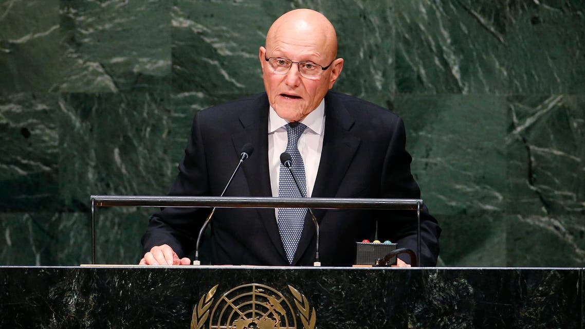 Lebanon's Prime Minister Tammam Salam addresses the 69th United Nations General Assembly at United Nations Headquarters in New York, September 26. (Reuters)