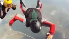 Skydiver almost plummets to his death in viral video