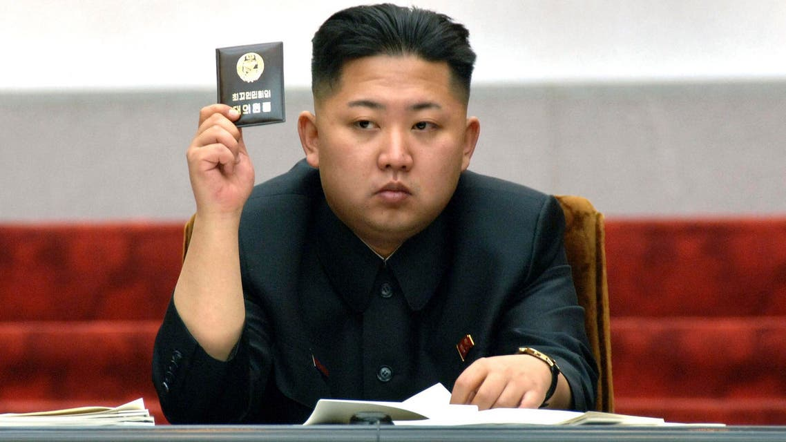 North Korean leader Kim Jong-Un holds up his ballot during the fifth session of the 12th Supreme People's Assembly of North Korea at the Mansudae Assembly Hall in Pyongyang in this April 13, 2012. (AFP)