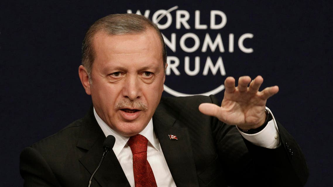 Turkey's President Tayyip Erdogan speaks during the World Economic Forum Special Meeting on Unlocking Resources for Regional Development in Istanbul September 28, 2014.  (Reuters)