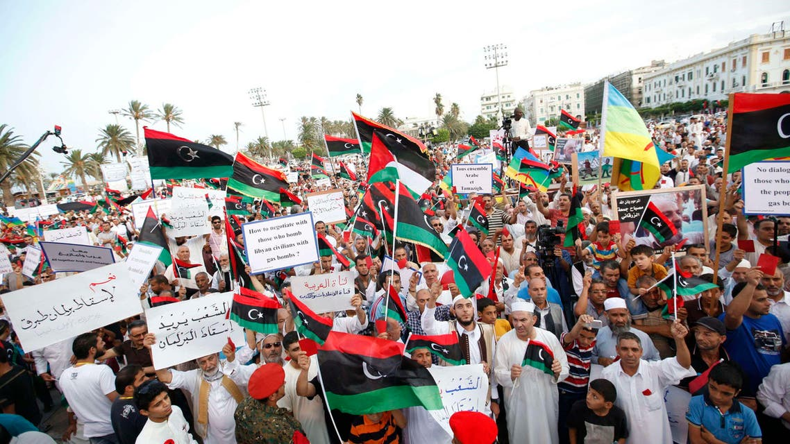 Supporters of Operation Dawn demonstrate in Martyrs' Square in Tripoli September 26, 2014. (Reuters)