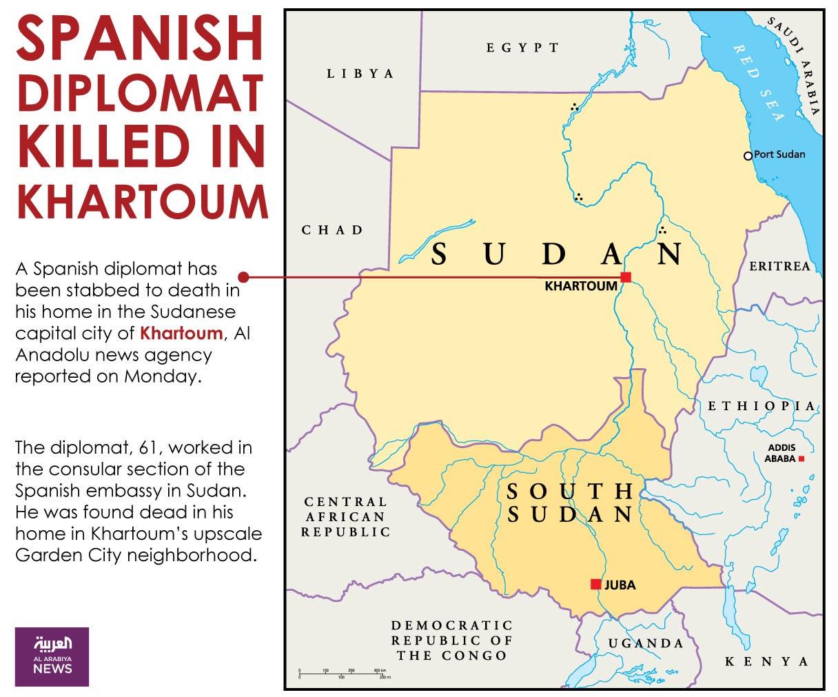 Infographic: Spanish diplomat killed in Khartoum