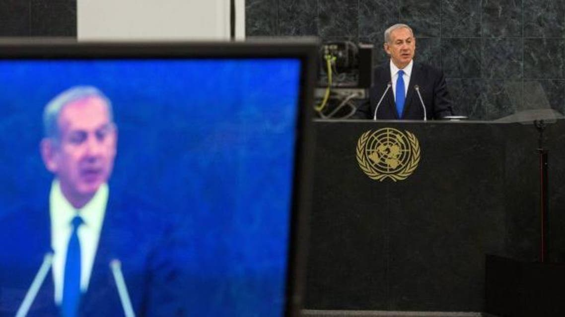 Netanyahu addresses the UN General Assembly. October 1, 2013. Photo by AFP