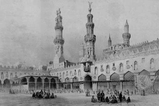 Construction of the Al-Azhar mosque in Cairo was started by the Fatamids in 970. (Photo credit: historyfiles.co.uk)