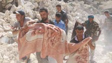 Workers dig out dead after Syria regime strike on Aleppo