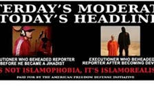 Controversial 'anti-Muslim' New York bus ad pulls Foley image