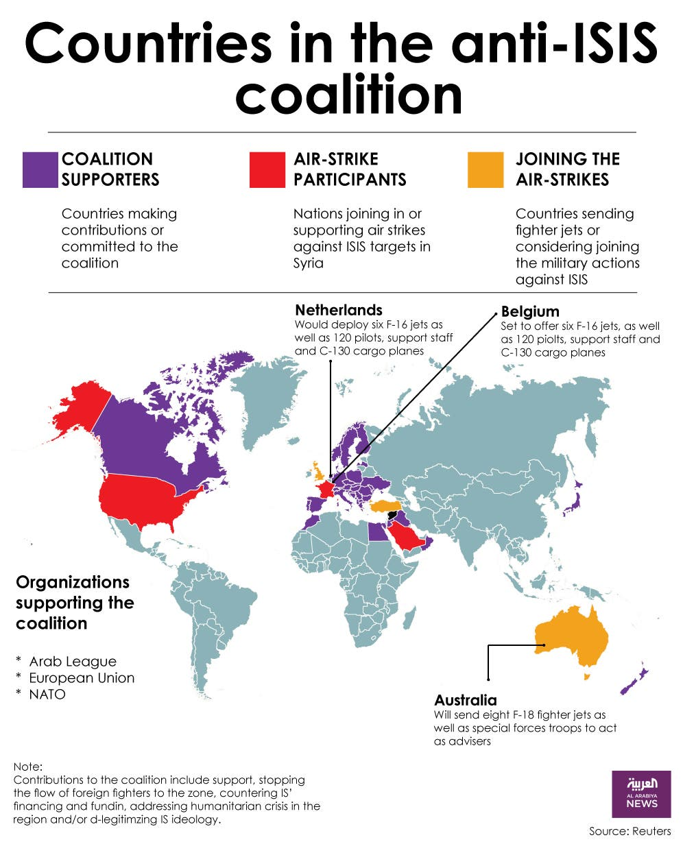 Infographic: Countries in the anti-ISIS coaliion