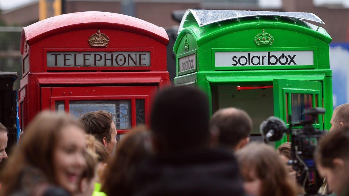 green phone box