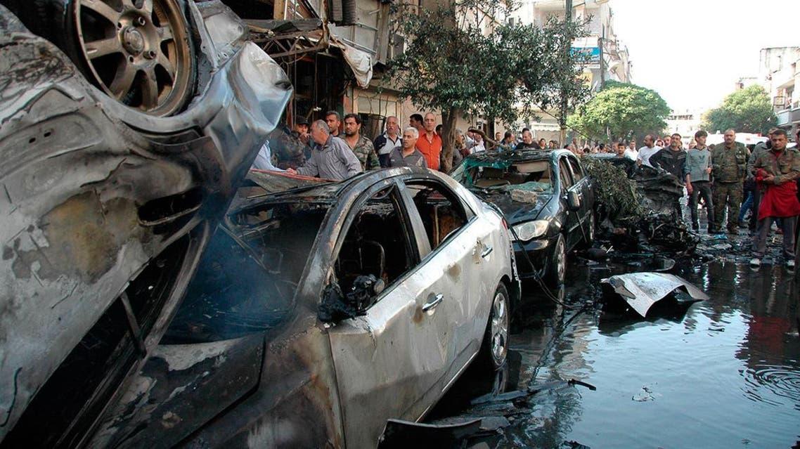 homs syria car bomb (Reuters)
