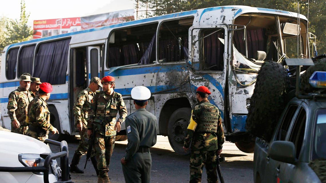 Afghan National Army soldiers (ANA) arrive at the site of a suicide attack in Kabul October 1, 2014.