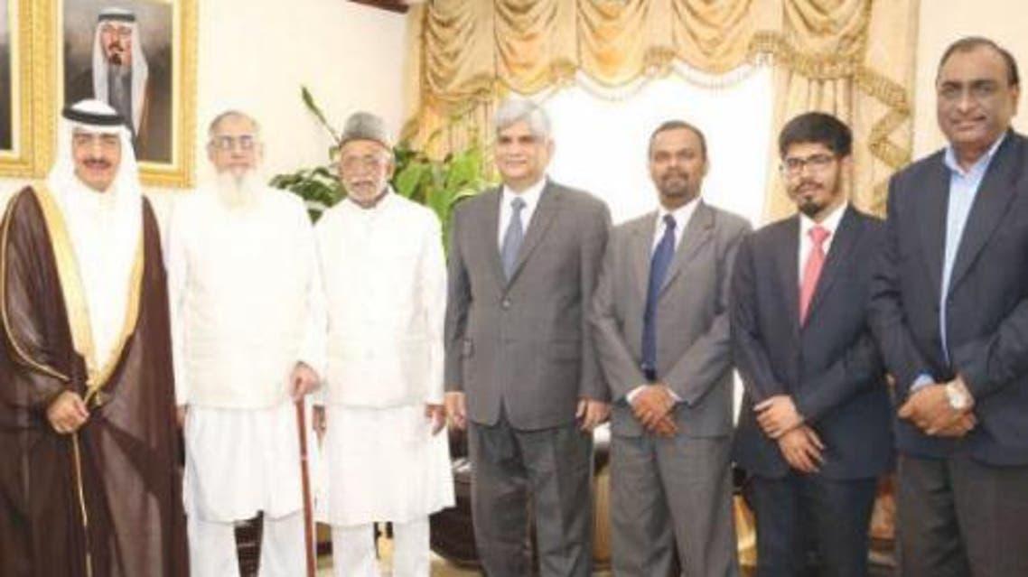 Minister of Haj Bandar Hajjar receives India's Haj goodwill delegation and senior diplomats at his office in Jeddah on Tuesday