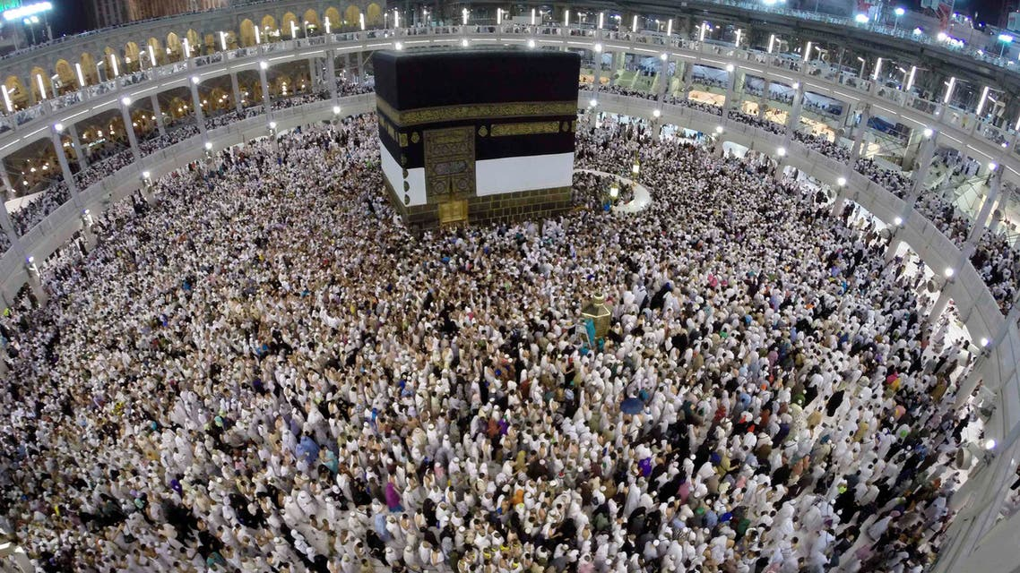 Muslim pilgrims pray around the holy Kaaba at the Grand Mosque, during the annual haj pilgrimage in Mecca September 30 2014. (Reuters)