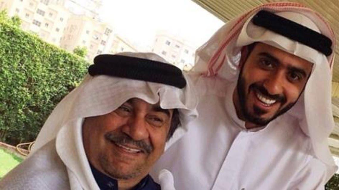 محمد الرمضان مع الفنان عبدالحسين عبدالرضا