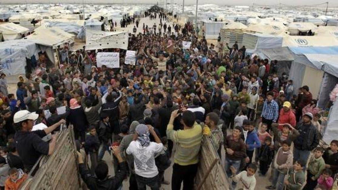 جانب من مخيم الزعتري بالأردن