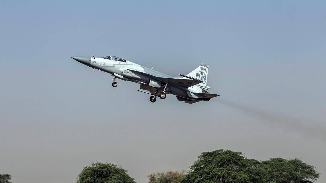 A file photo of a JF-17 Thunder fighter jet of the Pakistan Air Force taking off from Mushaf base in Sargodha, north of Pakistan. (File photo: Reuters)