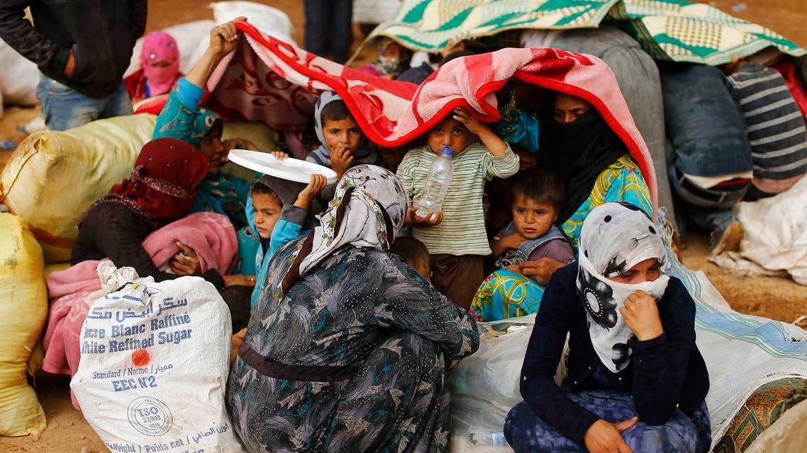 لاجئون لاجئين في كوباني عين العرب سوريا في سوريا