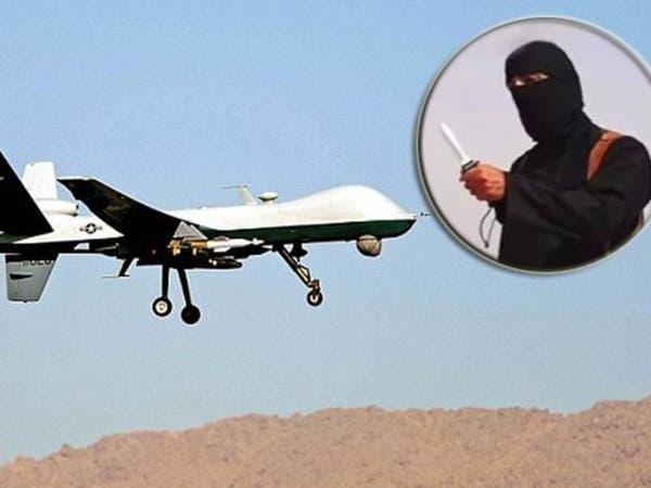 """""""ذباح"""" داعش الملثم.. رصدته طائرة في الرقة"""