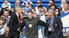 Wenger, Mourinho play down pushing incident