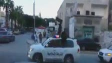 Video: Libya's Islamist militants parade with ISIS flags