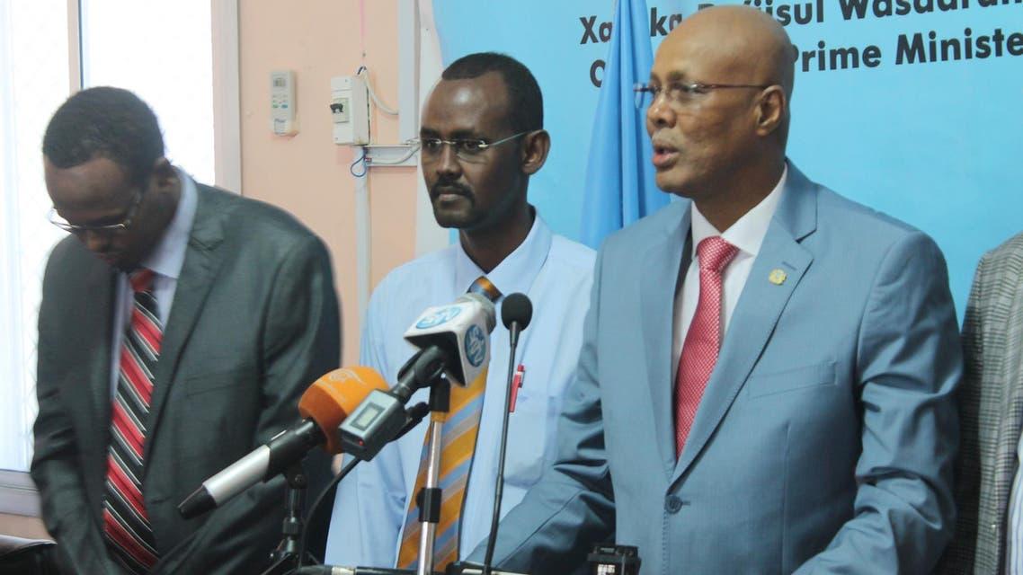 رئيس الوزرءاء الصومالي عبد الولي شيخ محمد