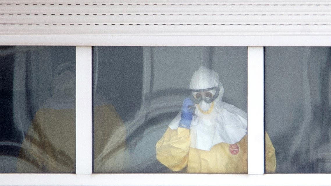 Ebola Spain Madrid AFP