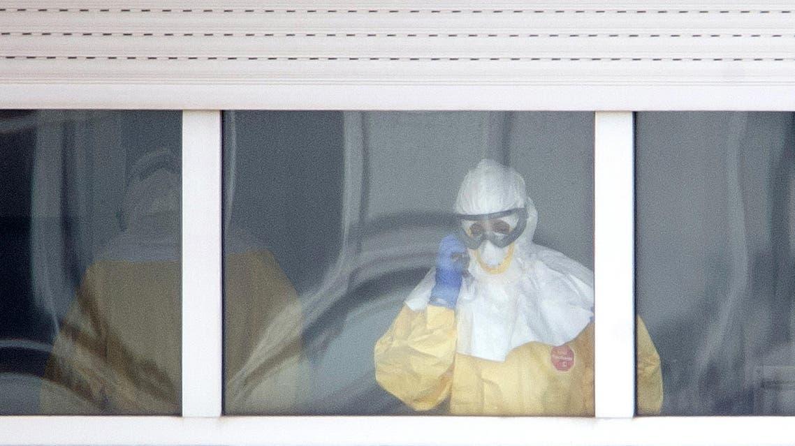 Ebola Spain Madrid AFP