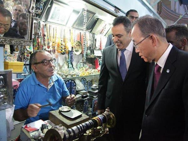 بان كي مون يشيد بالانتقال الديمقراطي السلمي في تونس