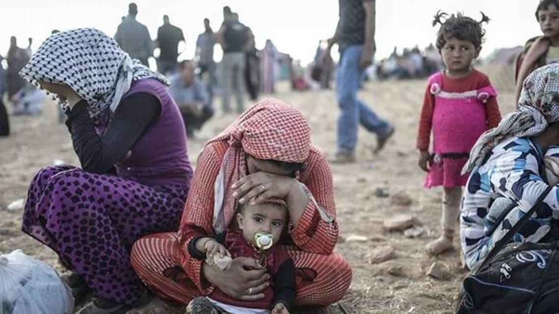 اللاجئين على الحدود التركية