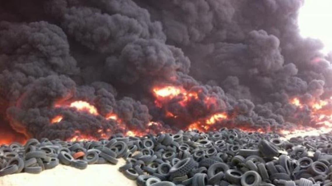 حرق الاطارات