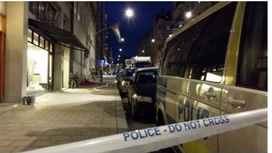 استهداف سفارة فلسطين في استوكهولم