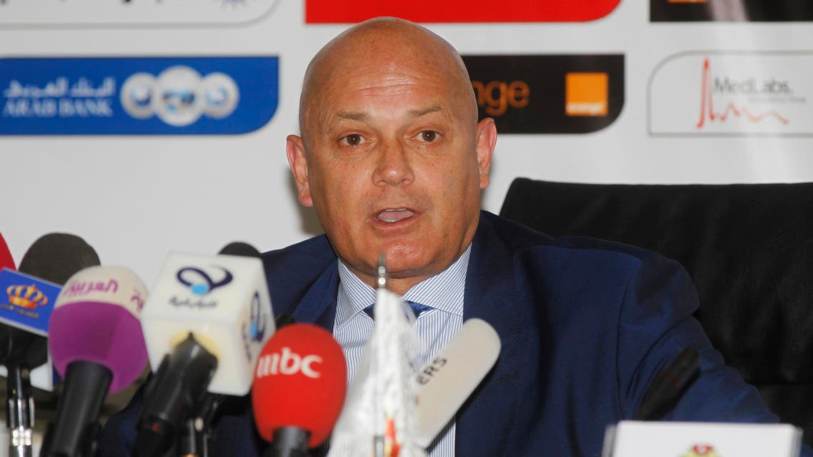 Former England international Ray Wilkins speaks to members of media, after he signed his contract as the new head coach of the Jordan national team, in Amman September 17, 2014. (Reuters)