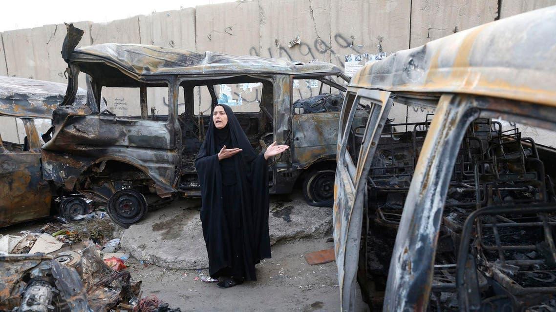 تفجير في بغداد العراق منطقة الشعلة إنفجار في العراق سيارة مفخخة