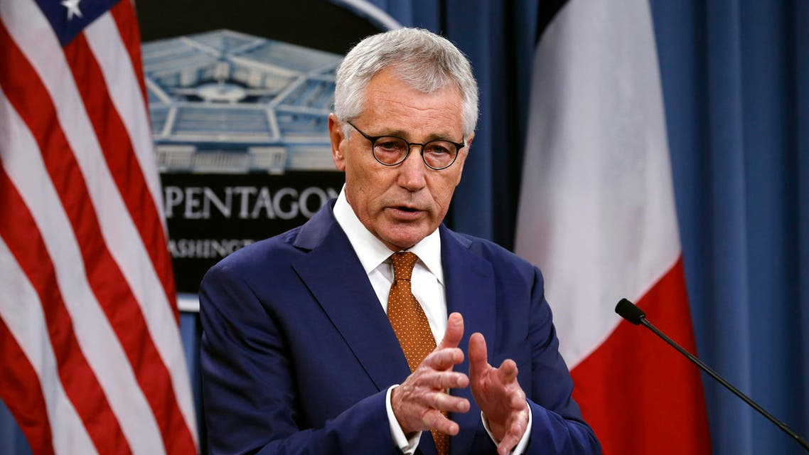 U.S. Secretary of Defense Chuck Hagel speaks during a news conference at the Pentagon in Washington October 2, 2014. (Reuters)