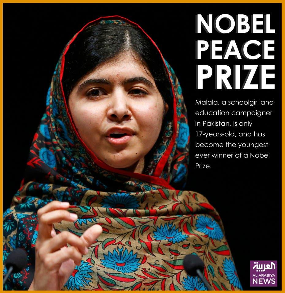 Pakistan's Malala Yousafzai awarded the Nobel Peace Prize