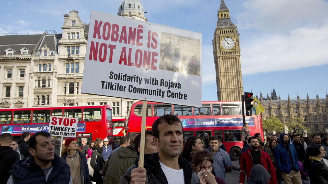 Protesters support Kurdish fight against ISIS