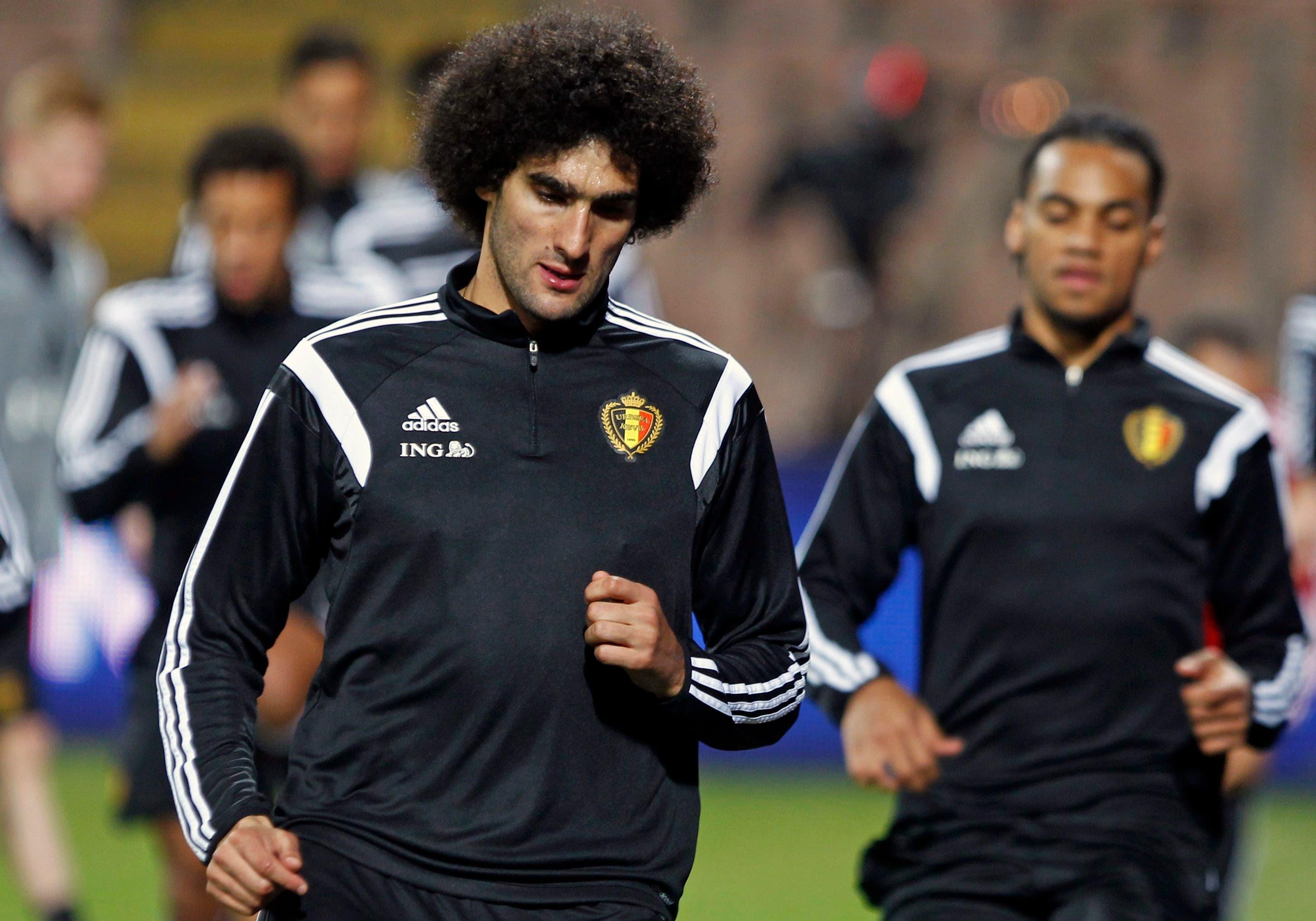 فيلايني يجري تدريباته مع المنتخب البلجيكي