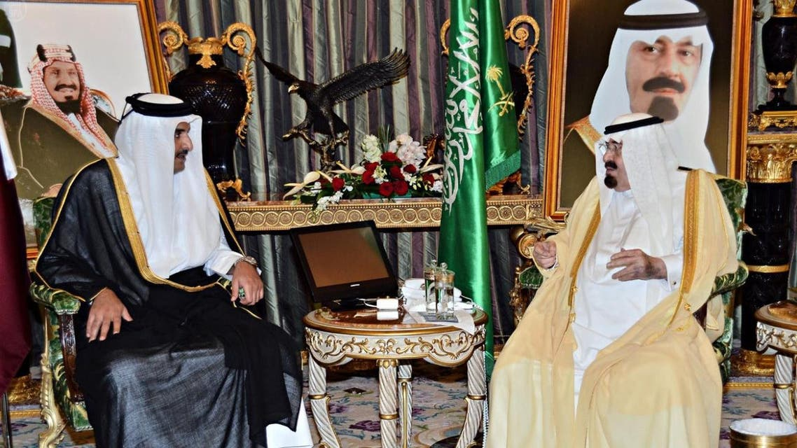 Saudi King and Qatar emir SPA
