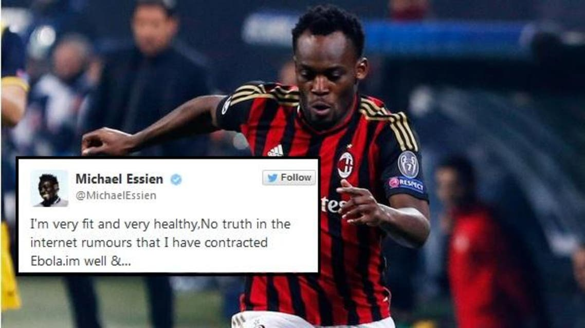 The Ghanaian player wrote on one of his Instagram pictures that the circulating rumors were completely false. (File photo: Reuters)
