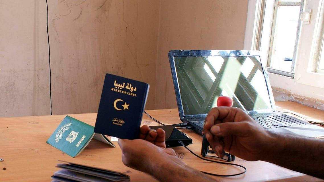 libya border passport REUTERS