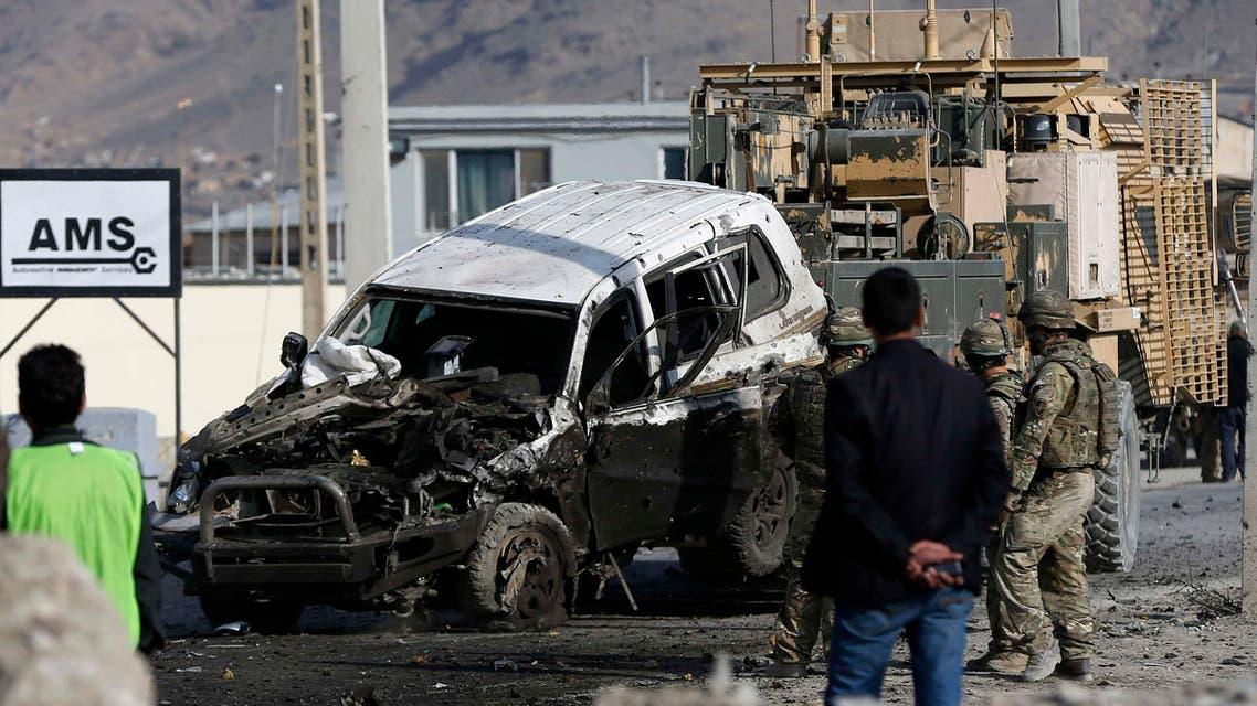 تفجير سيارة مفخخة في كابول في أفغانستان استهداف انتحار انتحاري
