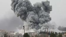 Video shows massive smoke cloud from Kobane