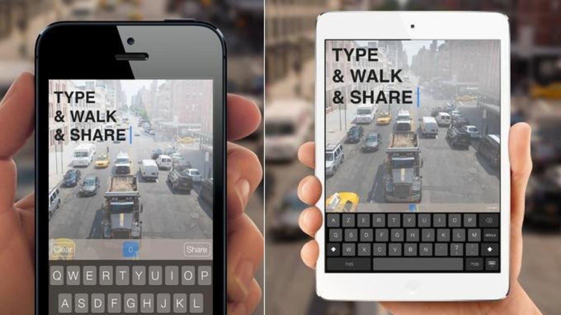 تطبيق للكتابة أثناء المشي لأجهزة آيفون