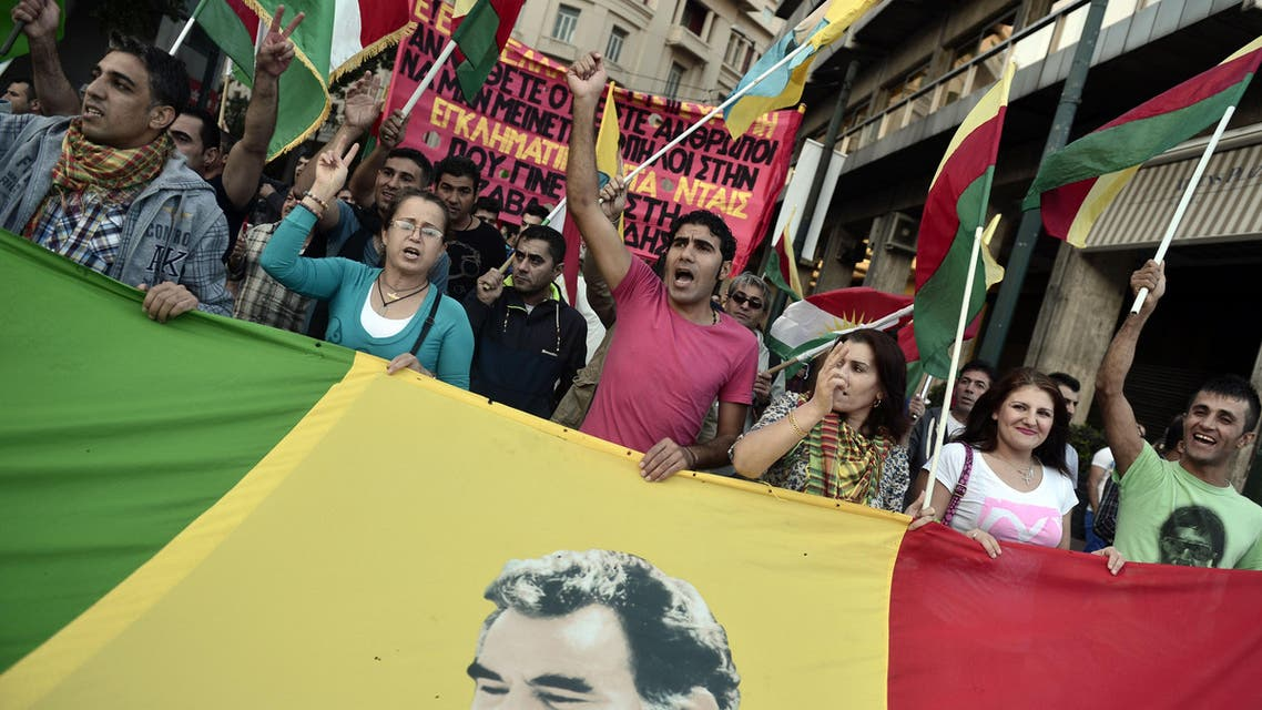 Kurds in Greece take to the streets