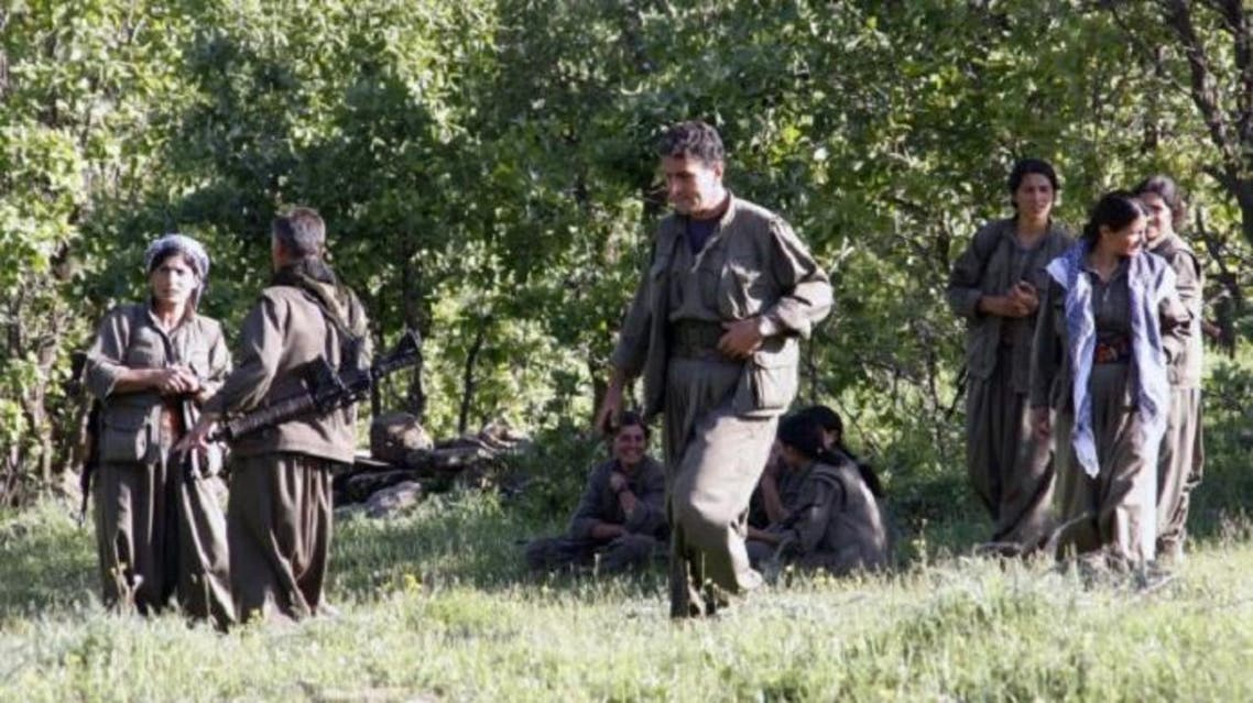 Kurdistan Workers' Party (PKK) rebels gather to listen to the speech of PKK leader Abdullah Öcalan on April 25, 2013 in the Qandil mountains. (AFP)
